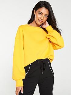 v-by-very-oversizednbspraw-hem-sweater-yellow