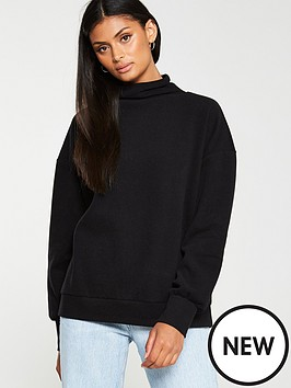 v-by-very-high-neck-soft-touch-jumper-blakc