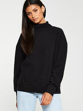 V by Very V By Very High Neck Soft Touch Jumper - Black Picture
