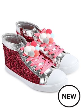 billieblush-glitter-pom-pom-high-tops-bright-pink