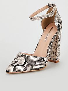 public-desire-sofia-snake-print-heeled-shoes