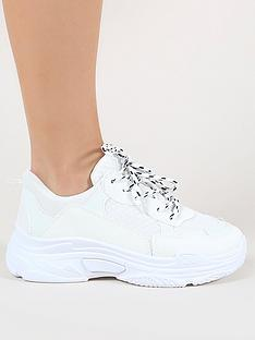 public-desire-fiyah-chunky-trainers-white