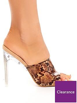 public-desire-clique-snake-print-heeled-sandals-animal