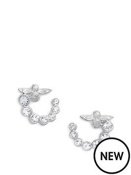 olivia-burton-olivia-burton-sterling-silver-bejewelled-bee-swirl-hoop-earrings