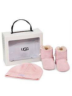 ugg-baby-girls-jesse-bow-ll-bootie-and-beanie-gift-set-pink