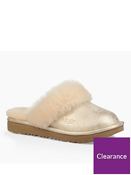 ugg-cozy-ll-metallic-slippers-gold
