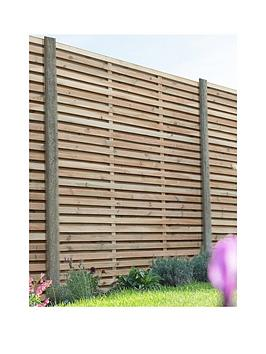 FOREST Forest 1.8M X 1.8M Pressure Treated Double Slatted Fence Panel -  ... Picture