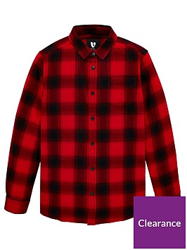 v-by-very-boys-long-sleeve-check-shirt-red