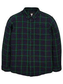 V by Very V By Very Boys Long Sleeve Check Shirt - Green Picture