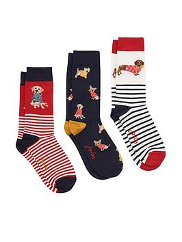 joules-joules-brilliant-dogs-bamboo-3-pack-socks