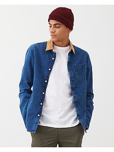 v-by-very-cord-collar-denim-shirt-blue