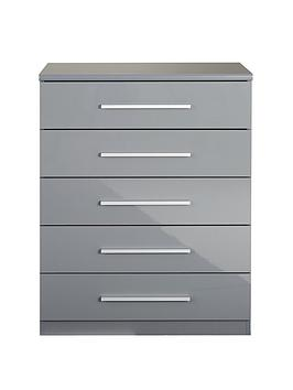 Very Prague Gloss 5 Drawer Chest Picture