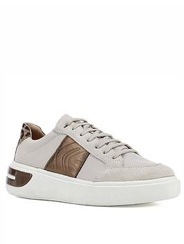 Geox Geox D Ottaya A Leather Trainers - Cream/Bronze Picture