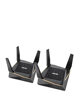 Asus   Rt-Ax92U 2-Pack Ax6100 Wifi 6 Tri-Band Whole Home Mesh Wifi