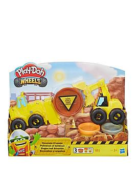 Play-Doh Play-Doh Wheels Excavator And Loader Toy Construction Trucks Picture