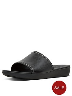 fitflop-sola-microstud-slides-flat-sandals-black