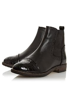 dune-london-wide-fit-queston-brogue-chelsea-ankle-boots-black