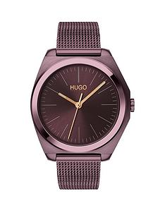 hugo-hugo-imagine-aubergine-and-rose-gold-detail-dial-aubergine-stainless-steel-mesh-strap-ladies-watch
