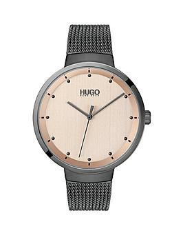 HUGO Hugo Hugo Go Carnation Gold And Grey Detail Dial Grey Ip Stainless  ... Picture