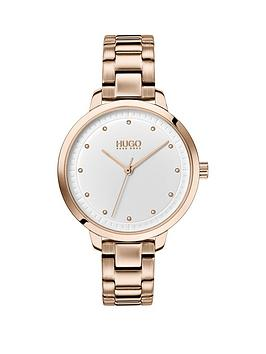 HUGO Hugo Hugo Achieve White Dial Carnation Gold Stainless Steel Bracelet  ... Picture