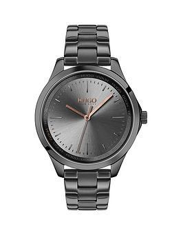 hugo-hugo-fearless-grey-and-carnation-gold-dial-grey-ip-stainless-steel-bracelet-ladies-watch