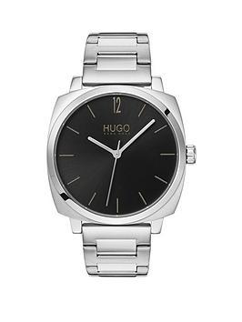 hugo-hugo-own-black-dial-stainless-steel-bracelet-mens-watch