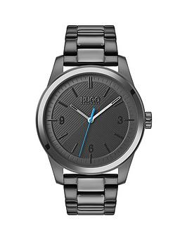 HUGO Hugo Hugo Create Grey Textured And Blue Detail Dial Grey Ip Stainless  ... Picture