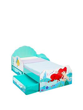 Disney Princess Disney Princess Ariel Toddler Bed With Storage Drawers By  ... Picture