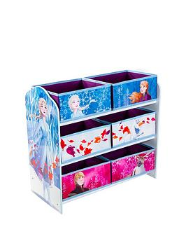 Product photograph showing Disney Frozen Kids Bedroom Storage Unit With 6 Bins By Hellohome