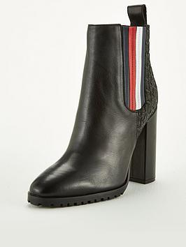 Tommy Hilfiger Tommy Hilfiger Sporty Monogram High Boots - Black Picture