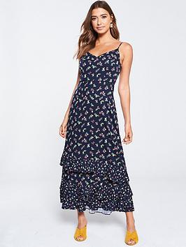 oasis-ditsy-tiered-cami-midi-dress