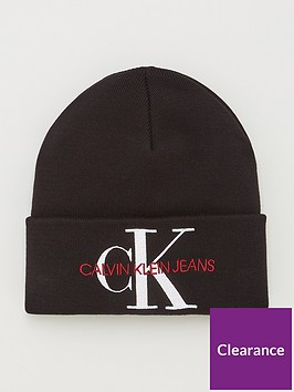 calvin-klein-jeans-knitted-logo-beanie-hat-black-beauty