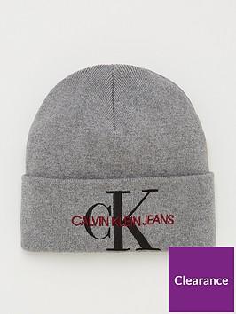 calvin-klein-jeans-knitted-beanie-grey-heather