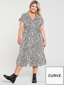 oasis-curve-shattered-heart-roll-sleevenbspbutton-through-midi-dress-mono