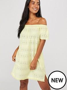 accessorize-off-shoulder-schiffli-dress-yellow