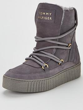 Tommy Hilfiger Tommy Hilfiger Cosy Lace Bootie - Grey Picture
