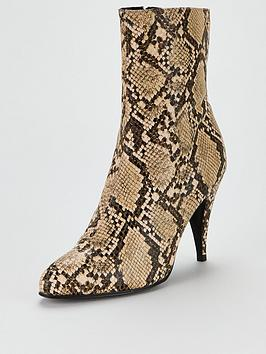Tommy Hilfiger Tommy Hilfiger Snake Print Boots - Sand Picture