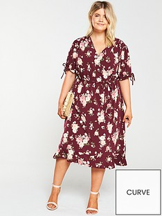 oasis-curve-erin-rose-wrap-skater-dress