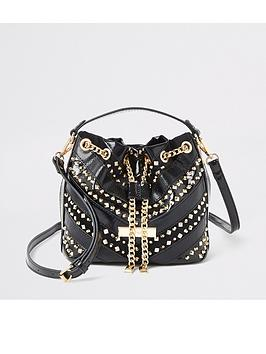 river-island-river-island-studded-mini-duffle-bag-black