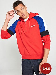 levis-pieced-14-zip-hoodie-red