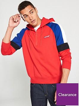 levis-pieced-14-zip-hoodie-red