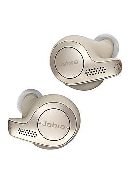 Jabra Elite 65T Truly Wireless Earbuds With Bluetooth&Reg; 5.0 And Ip55 Waterproof Rating - Gold Beige