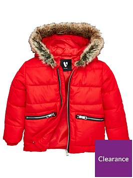 v-by-very-boys-faux-fur-hood-padded-coat-red