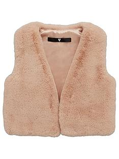 v-by-very-girls-faux-fur-gilet-pink