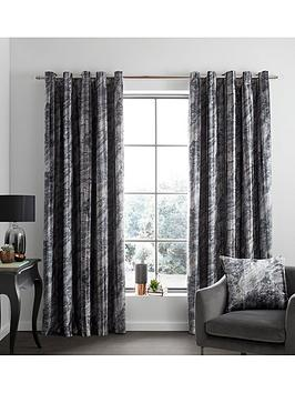 Catherine Lansfield Catherine Lansfield Marble Velvet Eyelet Curtains Picture