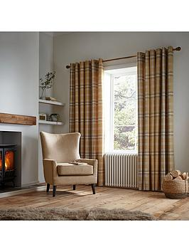 Catherine Lansfield Catherine Lansfield Woven Check Thermal Eyelet Curtains Picture