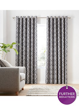 catherine-lansfield-lattice-eyelet-curtains