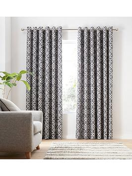 Catherine Lansfield Catherine Lansfield Lattice Eyelet Curtains Picture