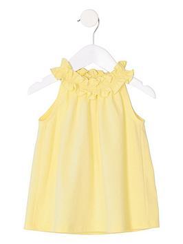 river-island-mini-mini-girls-trapeze-top-yellow