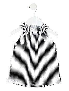 river-island-mini-mini-girls-stripe-trapeze-top-black